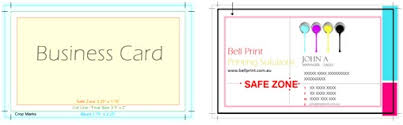Business Card With Bleed Bellprint Bleed Print Management Online Printing Australia