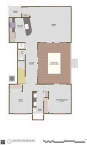 Courtyard Style House Plans by Modern Style House Plan 3 Beds 2 50 Baths 1693 Sq Ft Plan 450 5