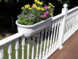 white railing planters diy into the glass option choice for