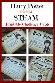 Challenge Directions Harry Potter Inspired Steam Printable Challenge Cards Harry