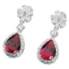 teardrop diamond earrings teardrop diamond encrusted ruby earrings from thailand global