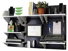 Wall Mounted Desk Amazon Com Wall Control Office Organizer Unit Wall Mounted Desk