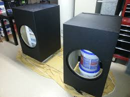 building a subwoofer box for home theater diy sub build 2 si 18 ht ported 1