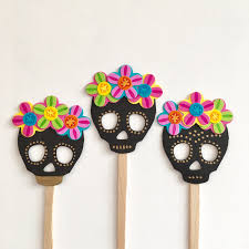 day of the dead cake toppers skull cupcake toppers cupcake toppers day of the