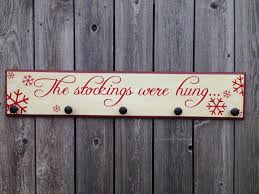 the stockings were hung 7x36 wood sign medium christmas