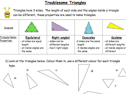 troublesome triangles classifying triangles drawing different