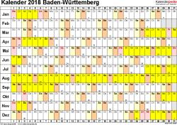 Ferienkalender 2018 Bw Kalender 2018 Baden Württemberg Ferien Feiertage Excel Vorlagen