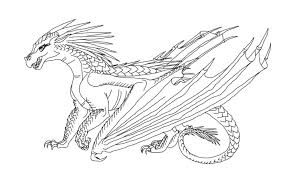 wings fire rainwing coloring pages pictures pin