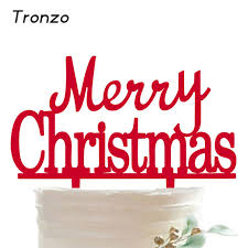 Christmas Cake Decorations To Buy by Aliexpress Com Buy Tronzo 15 11cm Christmas Cake Topper Red