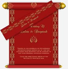 indian wedding scroll invitations indian gold scroll email wedding invitation