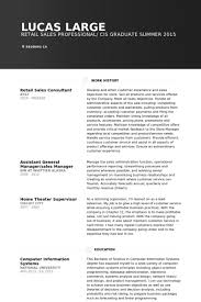 Technology Sales Resume Examples by Retail Sales Consultant Resume Samples Visualcv Resume Samples