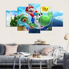 chambre mario 5 pièce mario galaxy peinture pour enfants enfant chambre