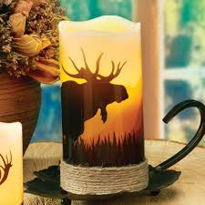 Black Forest Home Decor Moose Led Candle