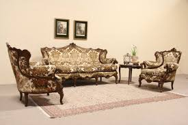 Antique Couches Sold Three Piece Set Pair Of Baroque Carved Vintage Italian