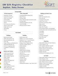 baby gift registry list target baby shower registry checklist for free tidyform