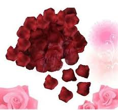 Silk Rose Petals 1000 Silk Rose Petals Wedding Party Decorations Red Flower Favors