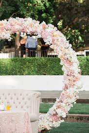 oversized floral wreath ceremony backdrops mon cheri bridals