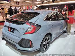 custom honda hatchback 2017 honda civic hatchback rear three quarters right side at giias