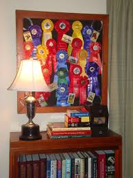 alumni ribbons blue cardinal decorating with show ribbons
