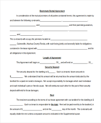 free roommate agreement template sample roommate agreement form 12 free documents in word pdf