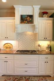yellow subway tile backsplash cabinet roll out drawers file drawer