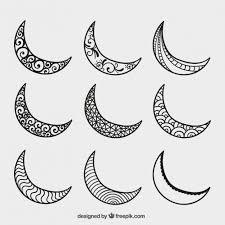 crescent moons vector free