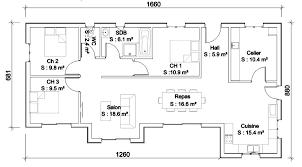 plan de maison 100m2 3 chambres idee plan maison idace de plan de maison idee plan maison 3