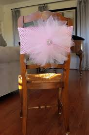 baby shower chair covers tulle chair cover with crochet elastic band for bridal shower