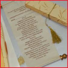 scroll wedding invitations beautiful indian wedding invitations 251638 gold color printed