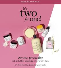 philosophy bogo free gifts with purchase makeup bonuses