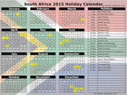 2016 calendar south africa with public holidays and terms