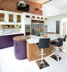 Curved Kitchen Island by American Fridge Freezer In Kitchen Kitchen Farmhouse With Pendant