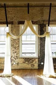 wedding backdrop linen ceremony backdrop rope instead of black ribbon grey linen