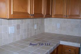 ceramic tile ideas for kitchens stunning kitchen countertop tile design ideas contemporary