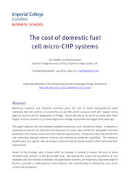 the cost of domestic fuel cell micro chp systems pdf download
