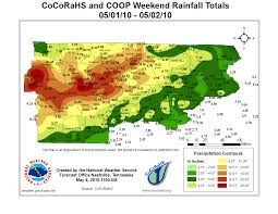 Montana Weather Map by May 2010 Flood