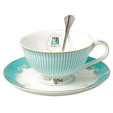 tea cup set jusalpha vintage blue bone china teacup spoon and