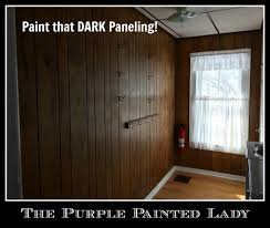 dated paneling not any more using chalk paint purple