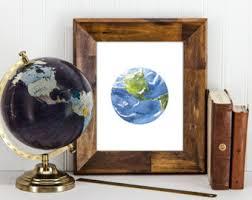 Earth Home Decor by Earth Wall Art Etsy