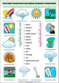 esl printable weather conditions worksheets for kids esl