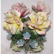 Capodimonte Vases Antique Vintage Capodimonte Floral Vase Made In Italy