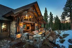 cabin style home lodge style home blends rustic contemporary in martis c