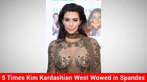 kim kardashian west wears mesh dress to yeezy season 4 show