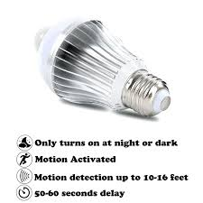 outdoor garage light bulbs motion detector light bulbs led motion sensor light bulb infrared