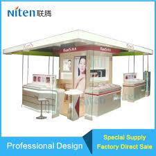 makeup station kiosk design shopping mall cosmetics eyebrow kiosk