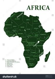 map 4 africa map africa on white background stock illustration 90730327