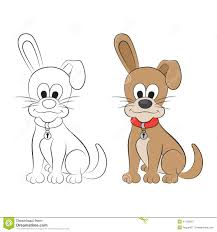 sketch and figure of an cartoon dog stock vector image 41120912
