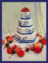 royal blue and orange wedding cake wedding cakes pinterest