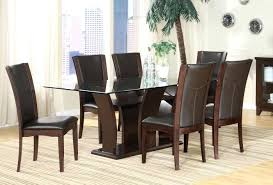 shaker espresso 6 piece dining table set with bench espresso dining table daisy espresso dining table with glass top