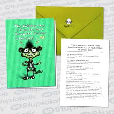 greeting card for sick person stupidiotic greeting cards